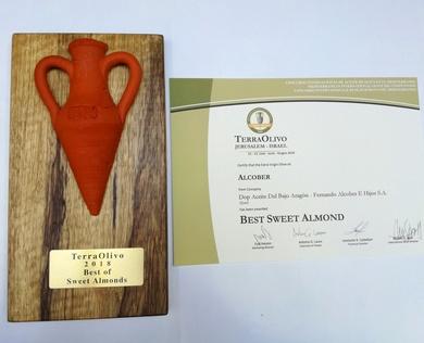 Premio Mejor almendrado dulce y premio prestigio